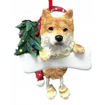 Shiba Inu Dangling Wobbly Leg Dog Bone Christmas Ornament