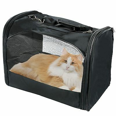 Folding Portable Small Pet Dog Cat Carrier Mesh Fabric Canvas Crate Travel Bag