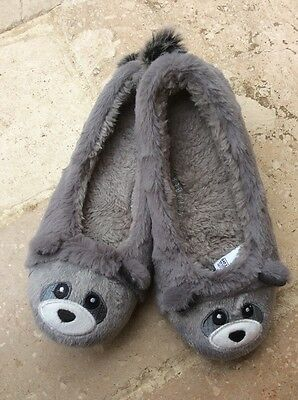 Grey cute 'animal' slippers size 6 M&S