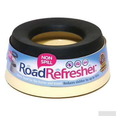 Road Refresher Non Spill Dog Puppy Pet Travel Water Bowl Small Cream - Free Post