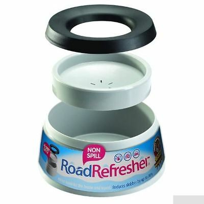 Road Refresher Non Spill Dog Puppy Pet Travel Water Bowl Large Grey - Free Post
