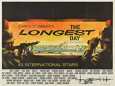 """The Longest Day 1962 16"""" x 12"""" Reproduction Movie Poster Photograph"""