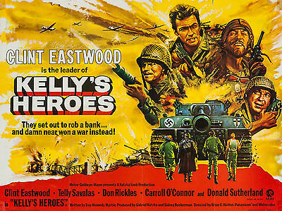 """Kelly Heroes 1970 16"""" x 12"""" Reproduction Movie Poster Photograph"""