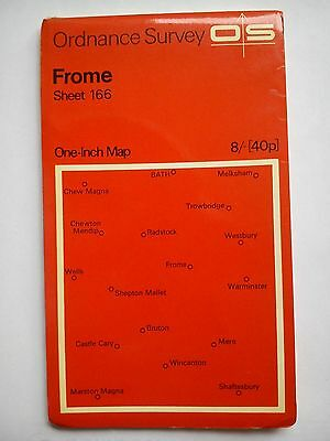 One-Inch 7th Series Ordnance Survey Map Sheet 166 Frome