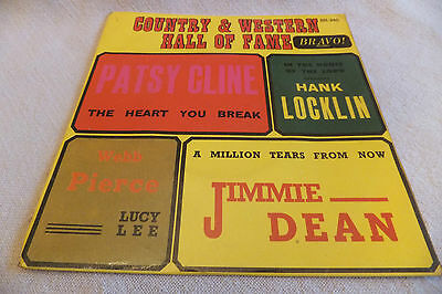 "Various Artists  Country Western Hall Of Fame - 7"" EP 1965 - Cline Locklin Dean"