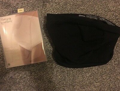Blooming Marvellous Maternity Comfort Fit Bump Tummy Support Belt Black S Small