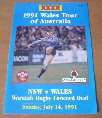 1991 - New South Wales v Wales, Touring Match Programme.
