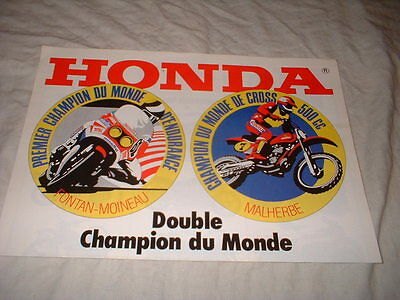 Catalogue   3 Pages Gamme Moto Honda Annees 1970-1980