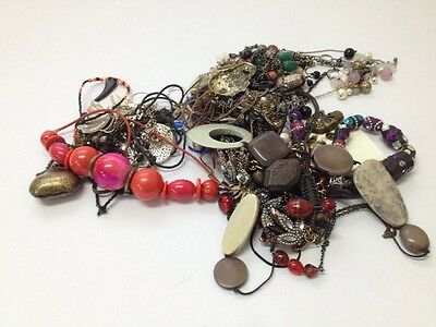 Job Lot of 30 Costume Fashion Necklaces Used and New