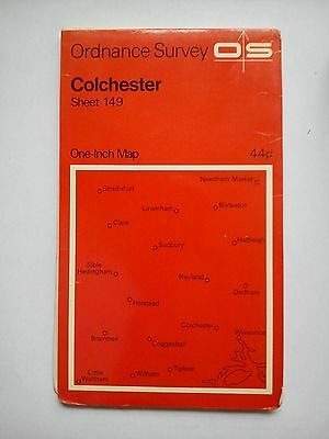 One-Inch 7th Series Ordnance Survey Map Sheet 149 Colchester