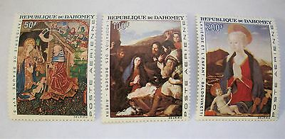 Dahomey 1966 Christmas Paintings 1966 SC# C46-C48 MNH