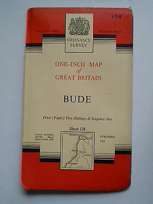 One-Inch 7th Series Ordnance Survey Map Sheet 174 Bude