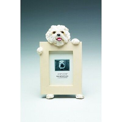 Maltese Puppy Dog Picture Photo Frame