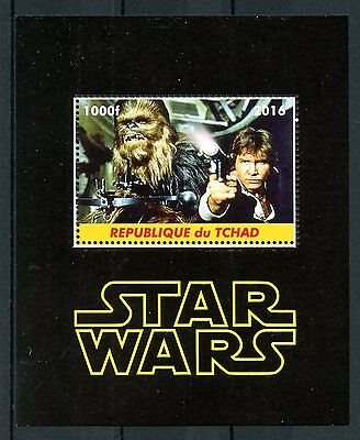 Chad 2016 MNH Star Wars Han Solo Chewbacca 1v M/S Film Movies Stamps