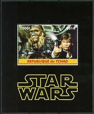 Chad 2016 CTO Star Wars Han Solo Chewbacca 1v M/S Film Movies Stamps