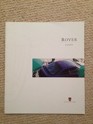 Rover Coupe Sales Brochure 1996