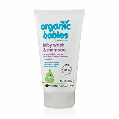 Green People Organic Baby Wash & Shampoo - Lavender 150ml