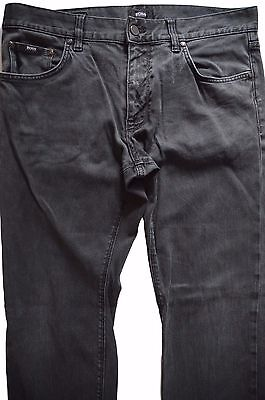 "Hugo Boss Black Label ""maine"" Regular Fit Dark Grey Stretch Denim Jeans- W34/l30"