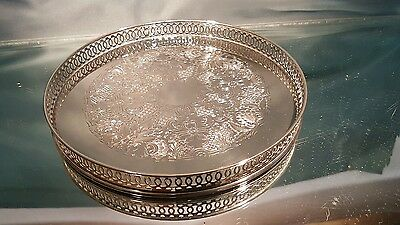 A very elegant silver plated gallery serving tray