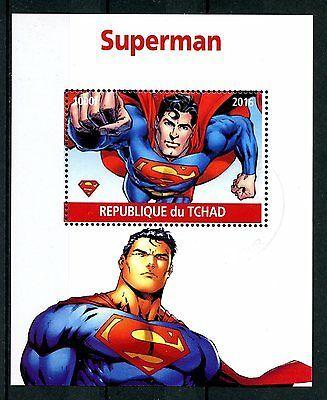 Chad 2016 CTO Superman 1v M/S Comics Cartoons Superheroes Stamps