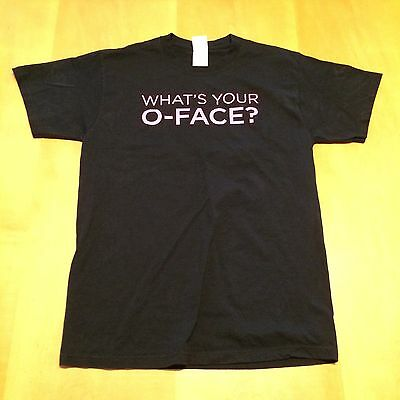 New THREE OLIVES VODKA What's Your O-Face? Black M T-Shirt Medium English tee