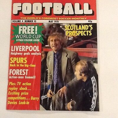 Football Monthly Magazine May 1978 Vol 4 No 10 Argentina World Cup Guide inc