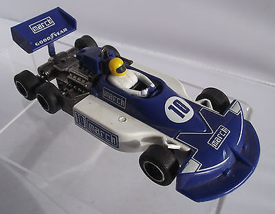Vintage Scalextric March Tyrrell  Six Wheeled  Formula One Racing Car