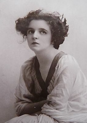 Edwardian Actress Miss Mabel Green Postcard Posted Lincoln 1910