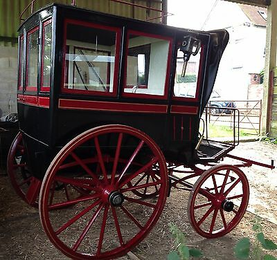 4 wheel horse carriage French 1860 Omnibus de Familie a Capucine
