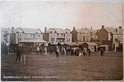 Vintage c1904 Used Postcard Summerhill Golf Course Dumfries Scotland