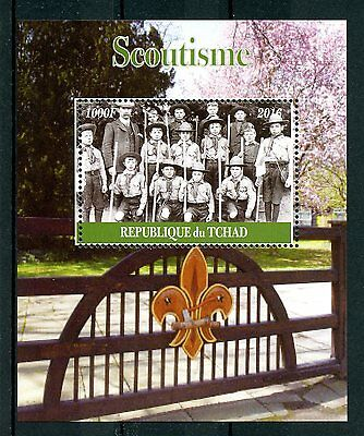 Chad 2016 MNH Scouting Lord Baden-Powell 1v M/S Scoutisme Boy Scouts Stamps