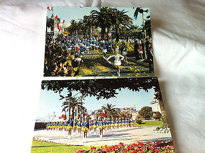 Majorettes, In Cannes, Set Of Two Postcards, Unused, V.g.c.