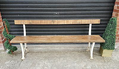 garden bench with victorian solid cast iron supports