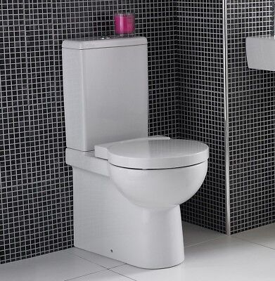 Small Short Projection Toilet Close Coupled Ceramic Pan Soft Close Seat 570mm