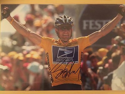 Lance  Armstrong Hand Signed Photo