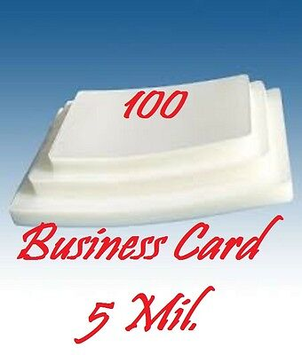 Business Card 5 Mil 100 PK Laminating Laminator Pouches Sheets 2-1/4 x 3-3/4