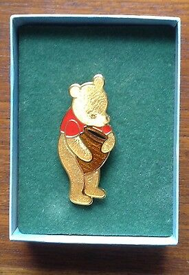 Golden Winnie The Pooh 22ct Gold Plated Enamel Collector's Piece 'Fish' Brooch