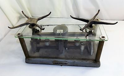 Vintage Apothecary Drug Store Torsion Balance Co. Scale style IL-1, Glass Case