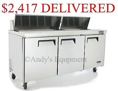 "Atosa 72"" inch 6 foot wide Sandwich Salad Prep Table Free lift gate delivery NSF"