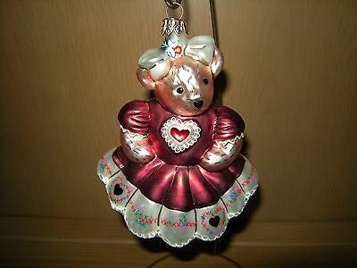 Christopher Radko Christmas Ornaments - Muffy Hearts and Flowers