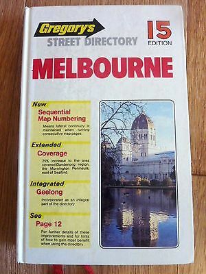 GREGORY'S MELBOUTRNE STREET DIRECTORY 1984.   Excellent condition. 15 EDITION