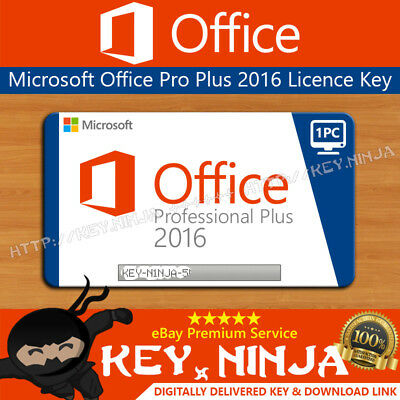 Microsoft Office Professional Pro Plus 2016 Key (1PC) 32/64bit Digital Licence