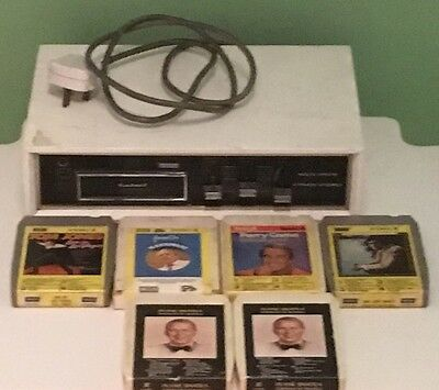 Stereo 8 track player and Tapes