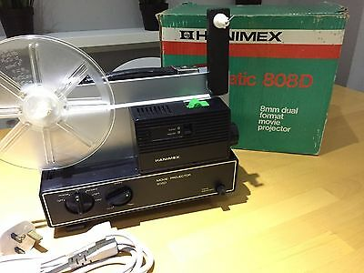 Hanimex Loadmatic 808D 8mm Dual Format Movie Projector. Original boxed.