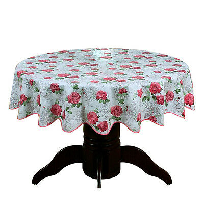 Round Table Cloth PVC Plastic Table Cover tablecloth Waterproof 137cm #6 N2O8