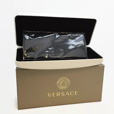 VERSACE White Eyeglasses Sunglasses Hard Case ONLY w/Cloth