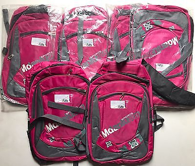 6 X Joblot Sports Bags School P.e. With Pockets Zips Pink Grey  Big Sale Now