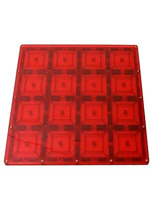 Magnetic Stick N Stack Stablizer Building Plate with 128 Enclosed Magnets, 12 x