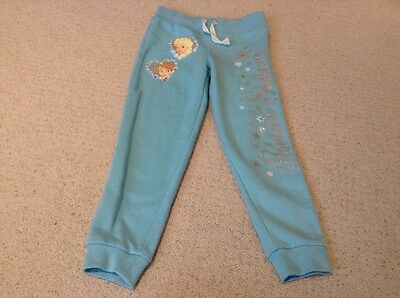 Blue girls Frozen jogging bottoms age 4-5 years