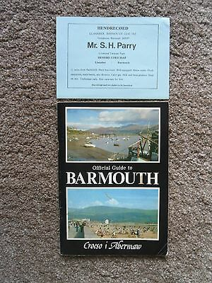 Official Guide To Barmouth, Wales. 1976.  62 Pages.